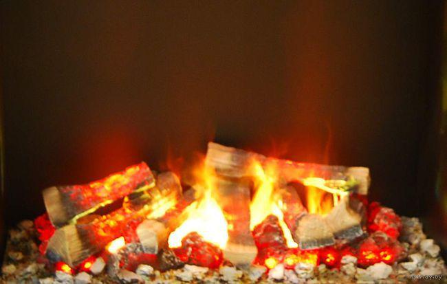 Огонь в камине своими руками